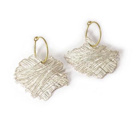 Weaving • Ohrringe 2019 • Gold 750, Silber