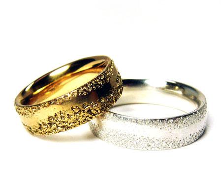 Archetypus • Damenring: Rosé-Gold 750, Herrenring: Silber 935