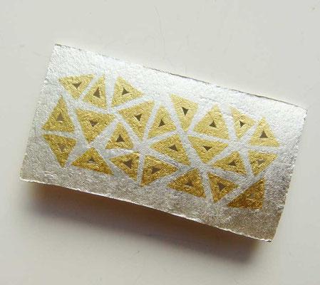 Triangolo • Brosche 2011 • Silber, Gold 999 • private collection