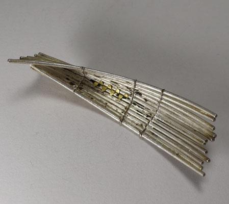 Arche Noah 2020 • Brosche 2020 • Eisen, Silber, Gold 750 • private collection