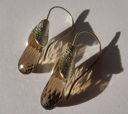 Frühlingsboten • Ohrringe 2012 • Silber, Rauchquarz • private collection