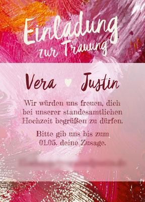 Standesamt Vorderseite Justin&Vera