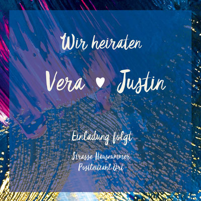 Save the Date Rückseite Justin&Vera