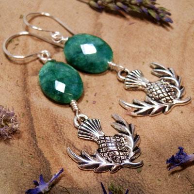 Distel symbool van Schotland, distel oorbellen, Outlander sieraden, Sassenach