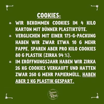 Unverpackt Einkaufen - Ersparnis an Plastik bei Cookies