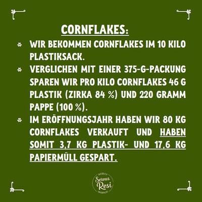 Unverpackt Einkaufen - Ersparnis an Plastik bei Cornflakes