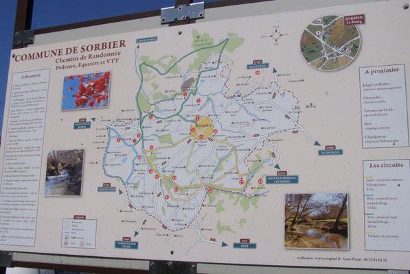 Départ du sentier du tacot - Randonnée pédestre à Sorbier (03220)