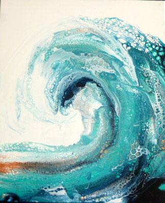 Erfrischende Welle, 60 x 60 cm, Preis auf Anfrage