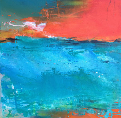 Zum Ufer , 80 x 80 cm, Preis auf Anfrage