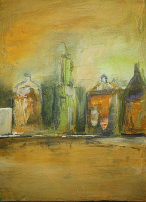 Stillleben Flaschen II, 50 x 40 cm, Preis auf Anfrage