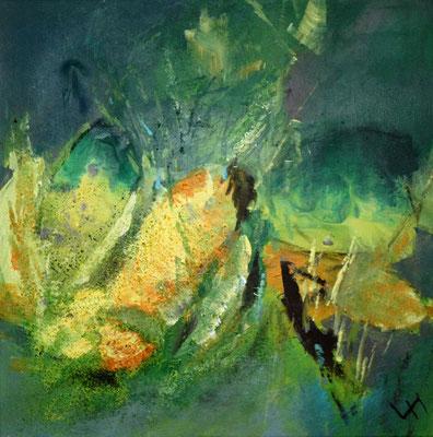 Krokus mit Biene, 50 x 50 cm, Preis auf Anfrage