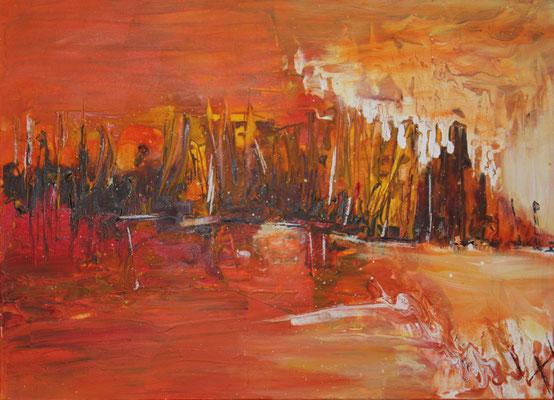 Segel am Abend, 50 x 70 cm, Preis auf Anfrage