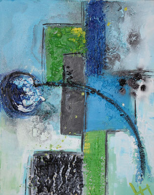 Frühlingsgong I, 60 x 50 cm, Preis auf Anfrage