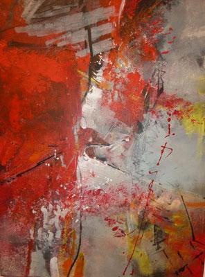Roter Faden, 70 x 50 cm, Preis auf Anfrage
