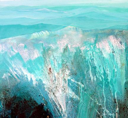Gletscher 80 x 80 cm, Preis auf Anfrage