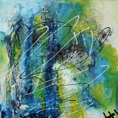 Meerestiefe II,  40 x 40 cm, Preis auf Anfrage