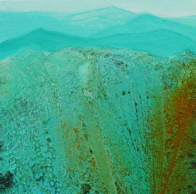 Blick ins Tal 40 x 40 cm, Preis auf Anfrage