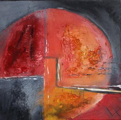 Sonne des Südens I, 50 x 50 cm, Preis auf Anfrage