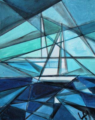 Segel am Meer, 60 x 50 cm, Preis auf Anfrage