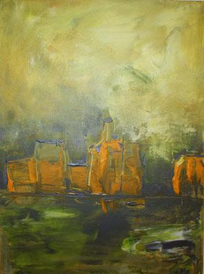 Stillleben Flaschen I, 50 x 40 cm, Preis auf Anfrage