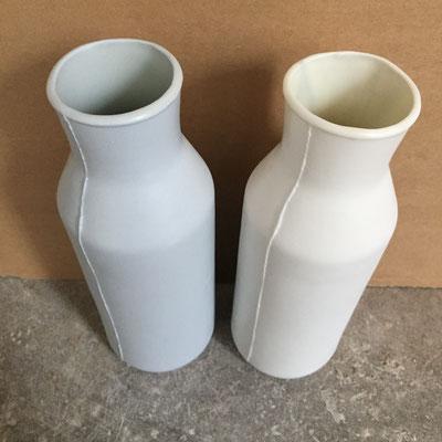 Carafes. Porcelaine. Brigitte Morel