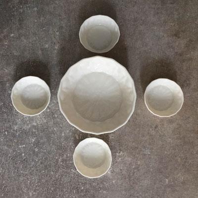 Set saladier et coupelles en porcelaine. Brigitte Morel