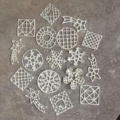 Boules de dentelle de porcelaine. Brigitte Morel