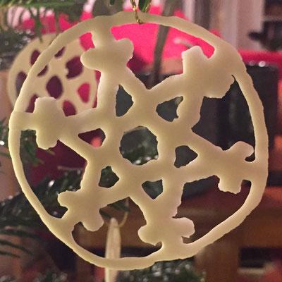Flocon de dentelle de porcelaine. Brigitte Morel