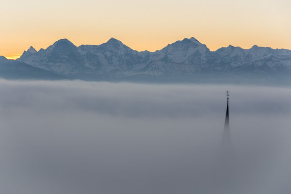 Kirchenthurnen, Eiger, Mönch und Jungfrau