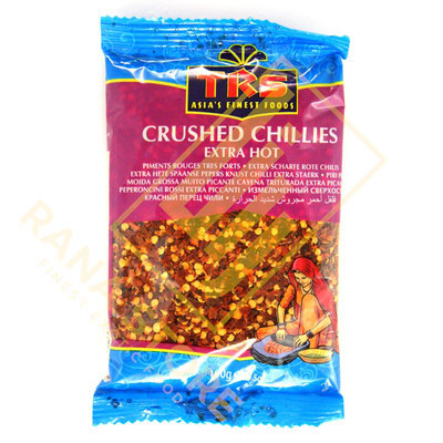 Chillies Crushed Extra Hot Chili gestampft extra scharf