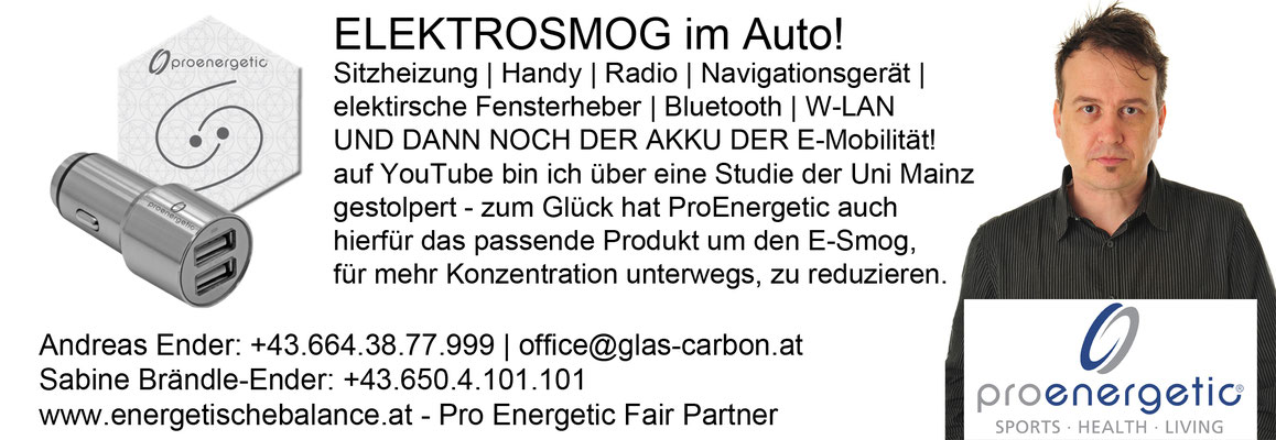 KW 46 - Elektrosmog im Auto: Energy Car-Kit: 89€ / Vital Kissen: 99€ / Naturfeldregulator: 298€