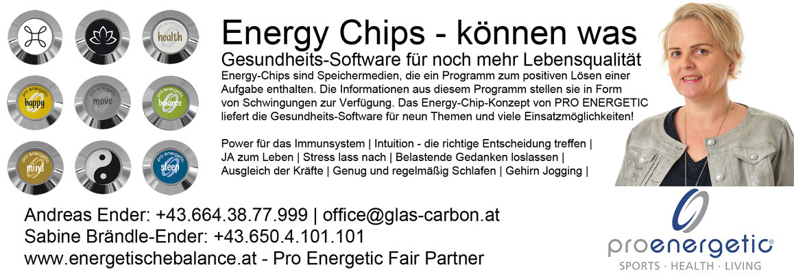 KW 45 - Energy Chips: je 18€ / Energy Band: je 18€ / Vitalizer ohne Chip: 18€ / Wasserflasche aus Glas 600ml: 19€