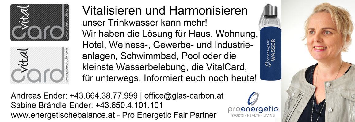 KW 43 - Vitalisieren und Harmonisieren: Vital Card: 25€ / Vital Platte: 124€ / Wasserflasche aus Glas 600ml: 19€ / aus Tritan 750ml: 14€