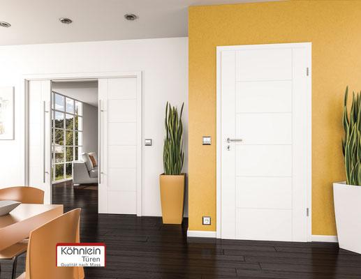 weiße Zimmertür von Köhnlein