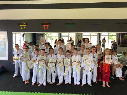 Sommer Gürtelprüfung - Kinder Karate in Friesoythe - Bild 001