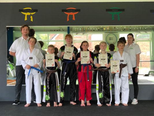 Sommer Gürtelprüfung - Kinder Karate in Friesoythe - Bild 006