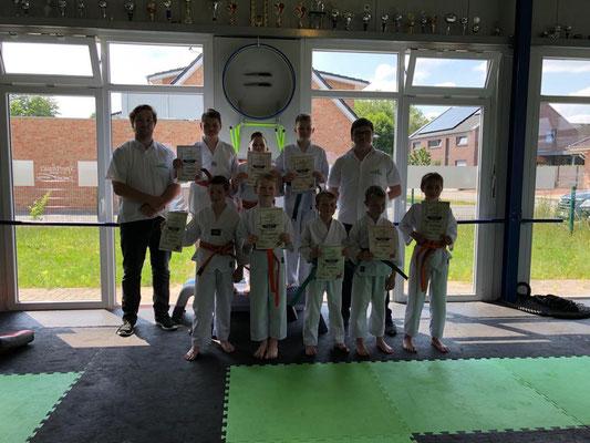 Sommer Gürtelprüfung - Kinder Karate in Friesoythe - Bild 004