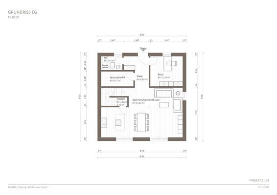 10 Stadtvillen mit Walmdach (WD) von 123 m² bis 209 m² Fläche ...