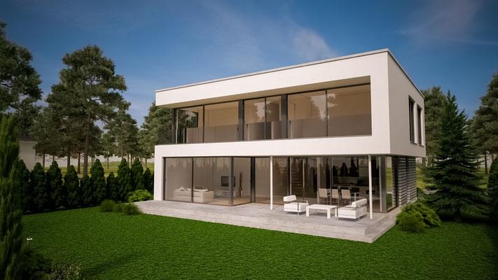 12 Stadtvillen mit Flachdach FD von 123 m² bis 209 m²
