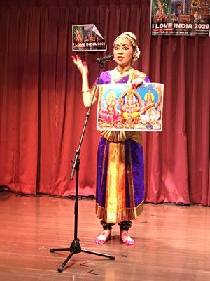 南インド古典舞踊解説・モガリ真奈美