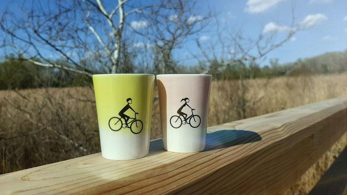 Espressotasse, Radfahrer