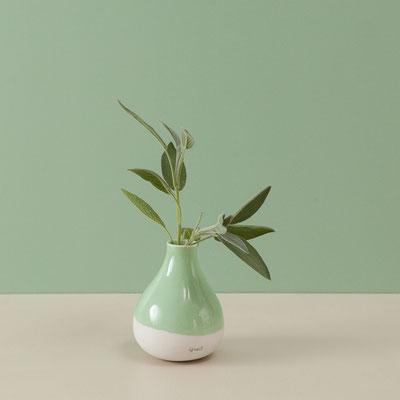 "Vase mitgrün ""Wackelvase"""