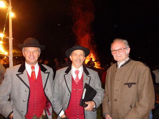 Unser Sprecher Gerhard Pleschberger hält die Feuerrede - Volksliedchor Bad Kleinkirchheim