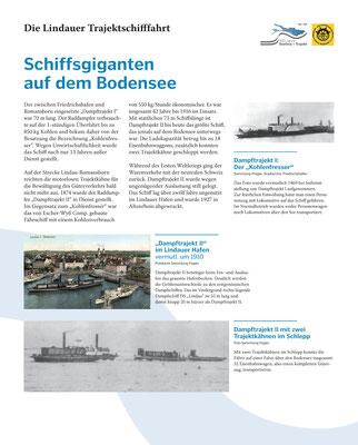 Tafel 5: Schiffsgiganten auf dem Bodensee - Das Lindauer Dampftrajekt II; Text S.Stern; Design & Layout lighthouse; Druck J.Soldatkin