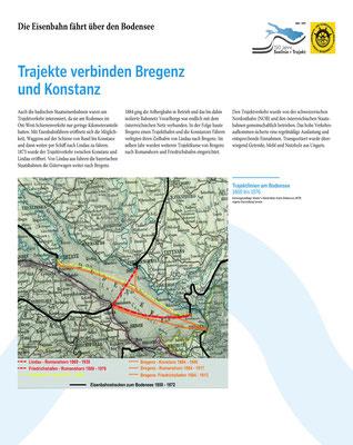 Tafel 13: Trajekte verbinden Bregenz und Konstanz; Text S.Stern; Design & Layout lighthouse; Druck J.Soldakin