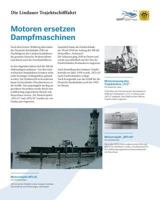 Tafel 6: Motoren ersetzen Dampfmaschinen - Alte Schleppboote werden modernisiert; Text S.Stern; Design & Layout lighthouse; Druck J.Soldatkin