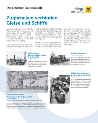 Tafel 7: Zugbrücken verbinden Gleise und Schiffe - Die Lindauer Trajektbrücke; Text S.Stern; Design & Layout lighthouse Lindau; Druck J.Soldatkin Lindau