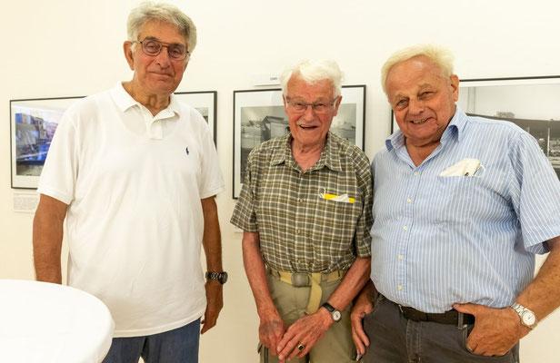 Eröffnung der Ausstellung am 28.Juni 2021 - Unsere Lokführer vom ehemaligen Bw Lindau (alle geimpft) (Foto J.Wisckow)