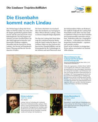 Tafel 1: Die Eisenbahn erreicht Lindau - Bau der Ludwig-Süd-Nord-Bahn; Text S.Stern; Design & Layout lighthouse; Druck J.Soldatkin