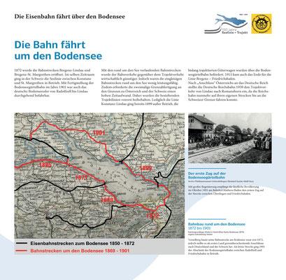 Tafel 14: Die Bahn fährt um den Bodensee - Rückgang der Trajektschifffahrt; Text S.Stern; Design & Layout lighthouse; Druck J.Soldakin